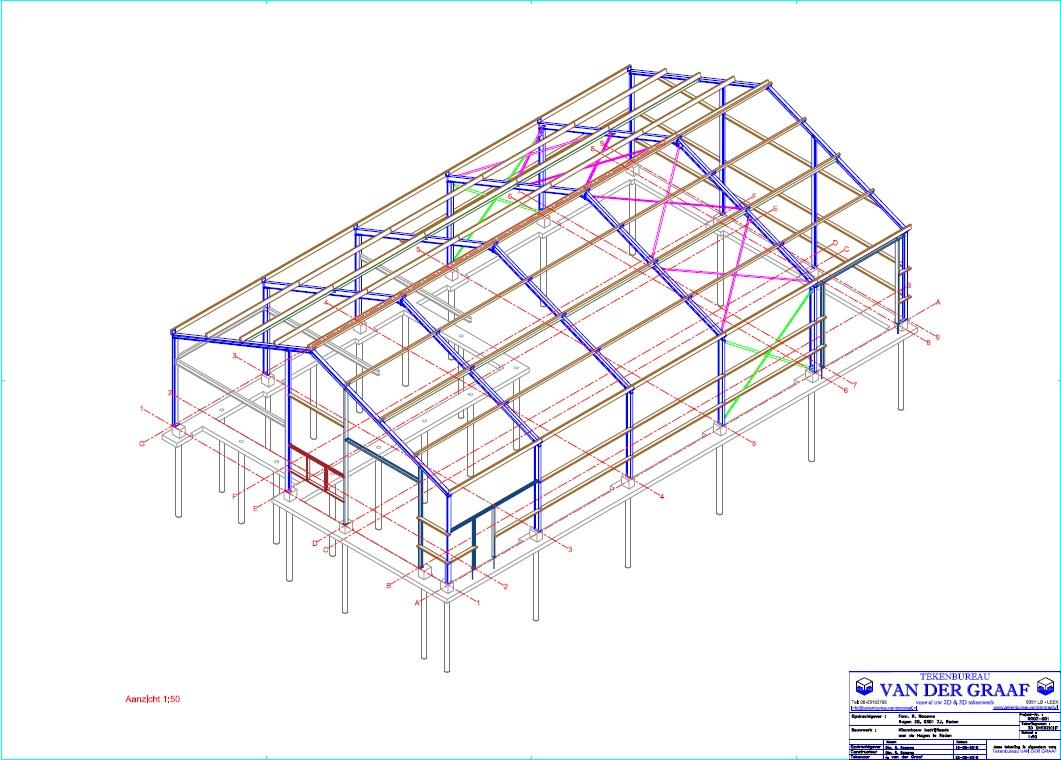 3D staalconstructietekening